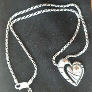 John Atencio heart necklace